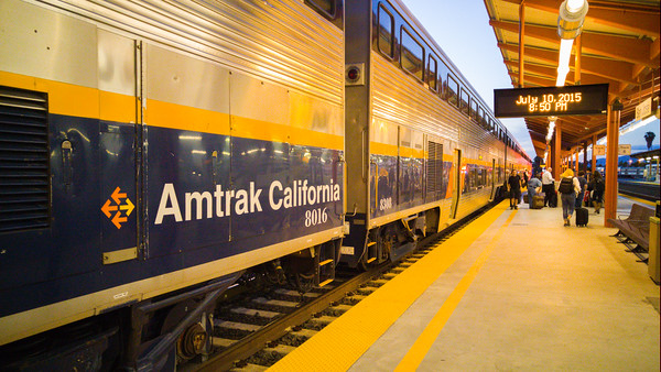 Amtrak to Santa Cruz, California