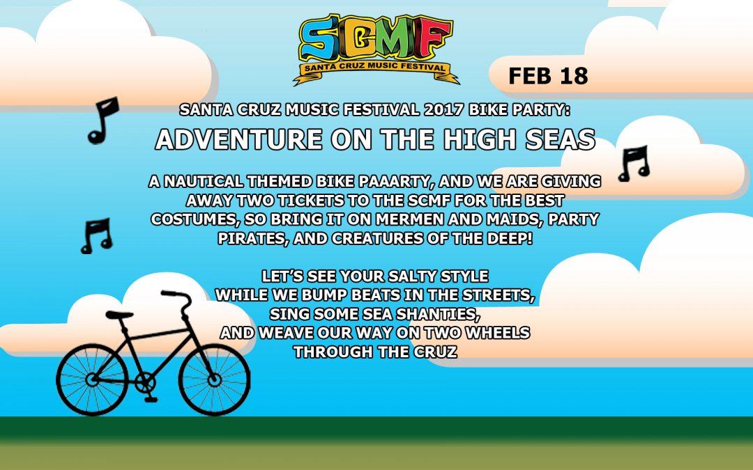 Santa Cruz Bike Party presents The Santa Cruz Music Festival Ride!